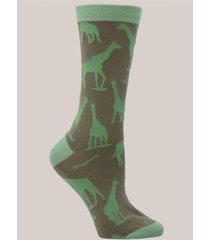 calcetín algodón w c giraffe verde rockford