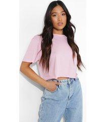 petite kort t-shirt, pale pink