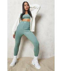 premium geribbelde legging
