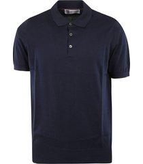 elasticated waist buttoned polo shirt