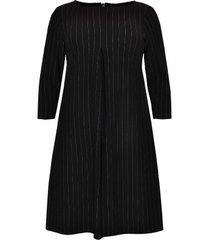 geplooide jurk pinstripe