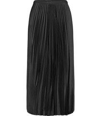 plisado knälång kjol svart mango