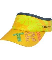 viseira fastpace running tri amarela - amarelo - dafiti
