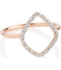 riva diamond hoop ring, rose gold vermeil on silver
