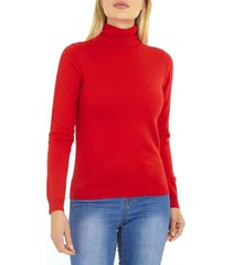 sweater brave soul rojo - calce slim fit