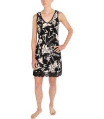 sesoire lace-trim floral-print short nightgown