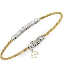 alor women's 18k gold, stainless steel & diamond bracelet