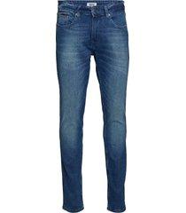 slim tapered steve b slimmade jeans blå tommy jeans