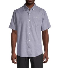 coyote short-sleeve button-front woven shirt