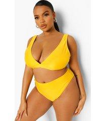 plus essentials bikini top met laag decolleté, orange