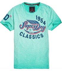 superdry heren t-shirt flyers mint groen