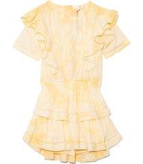 natasha dress in hand dyed lemon drop