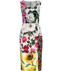 dolce & gabbana silk patchwork dress