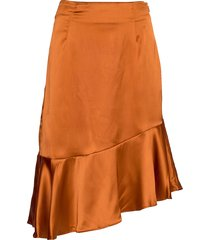 ellie skirt knälång kjol orange by malina