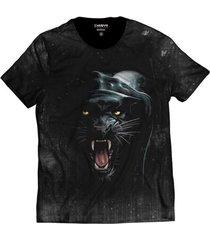 camiseta di nuevo pantera negra onça pintada preta