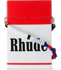 rhude cigarette case shoulder bag - red