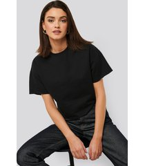 na-kd basic sweatshirt tee - black