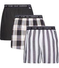 calvin klein 3-pack slim fit boxer - zwart/grijs
