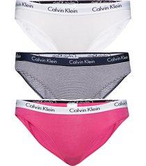bikini 3pk trosa brief tanga rosa calvin klein