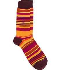 etro striped socks - orange