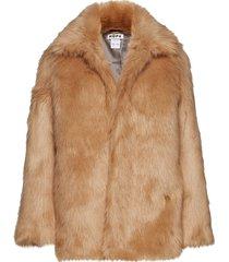 flux jacket outerwear faux fur bruin hope