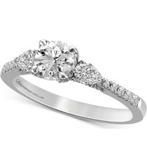 bliss monique lhuillier diamond three stone engagement ring (1-1/4 ct. t.w.) in 14k white gold