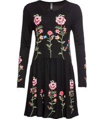 abito con fiori (nero) - rainbow