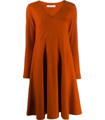 harris wharf london relaxed midi dress - orange