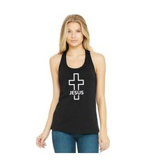 regata feminina algodão religiosa crucifixo jesus