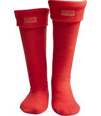 medias calentadoras botas lluvia wellington bottplie - rojo