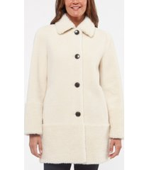 kate spade new york faux-sherpa teddy coat