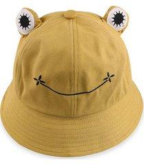 cute frog casual bucket hat