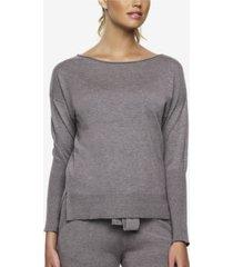 felina voyage textured sweater knit lounge top