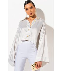 akira bungalow button down blouse