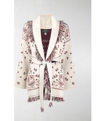 alanui paisley-pattern cardi-coat