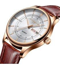 reloj hombre lujo pulso cuero ontheedge 003 dorado rosa blanco