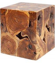 stolik dekoracyjny massive drewno teakowe 40cm