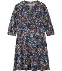 jurk met print uit bio-katoen, nachtblauw 38