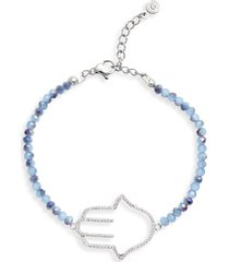 knotty beaded charm bracelet in rhodium at nordstrom
