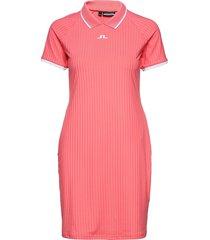 april golf dress kort klänning rosa j. lindeberg golf