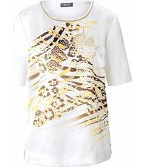 shirt korte mouwen en ronde hals van basler wit