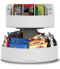 mind reader 2 tier lazy susan granola bar and snack organizer, home, office, breakroom