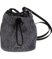 max mara fur applique bucket bag