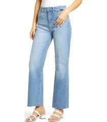 mavi jeans mavi victoria high waist distressed raw hem wide leg jeans, size 25 x 32 in light shaded 90s at nordstrom