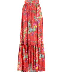 etro printed wrap skirt