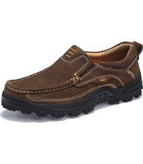scarpe casual outdoor antiscivolo in vera pelle da uomo