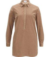 camicetta lunga in velluto di cotone biologico (marrone) - bpc bonprix collection