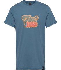 hike tee t-shirts short-sleeved blå bula