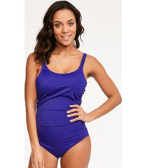 zanzibar underwire tummy control one-piece swimsuit d-g cup