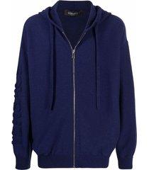 versace medusa-head motif zip-fastening hoodie